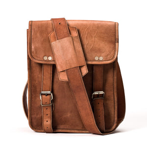 Camel Leather Bag: 9x11 Half Flap Far Horizon Traders