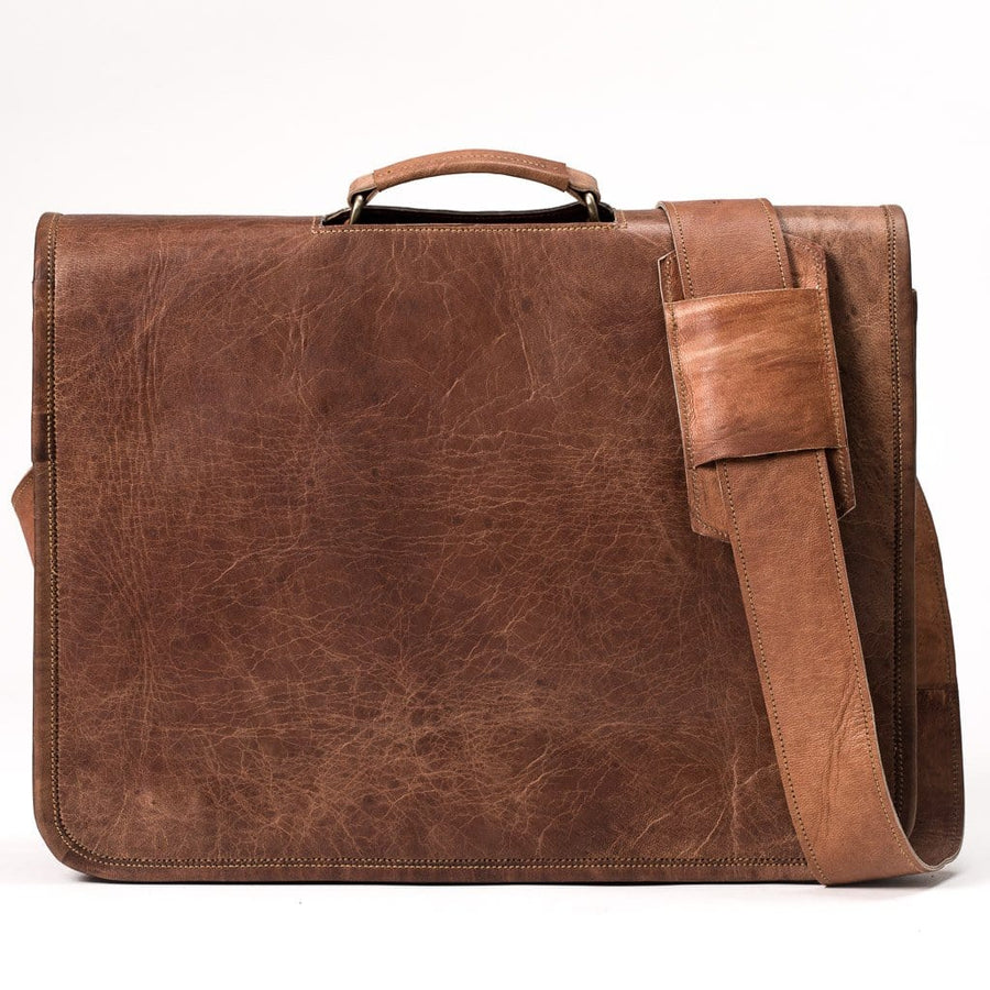 Camel Leather Bag: Professor Far Horizon Traders