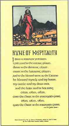 #23 'The Rune of Hospitality' illustration by Jack B Yeats. Cuala Press