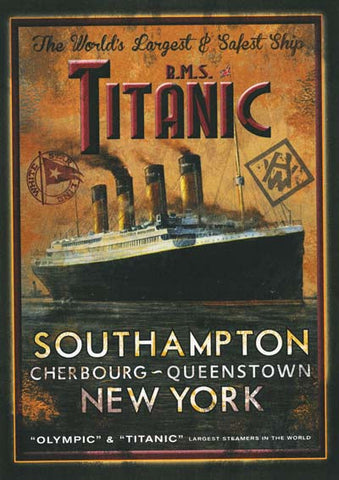 Titanic  The world's largest and safest ship Poster