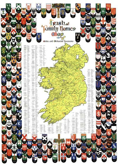 Irish family names map