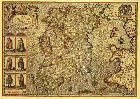 The Kingdom of Ireland - 16th Century Map by John Speed
