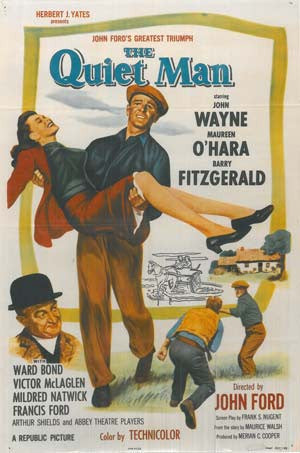 The Quiet Man Vintage Film Poster