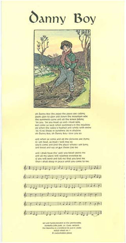 #7 'Danny Boy' illustrated by Jack B Yeats. Cuala Press