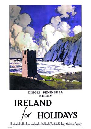 Dingle Peninsula Vintage Travel Poster