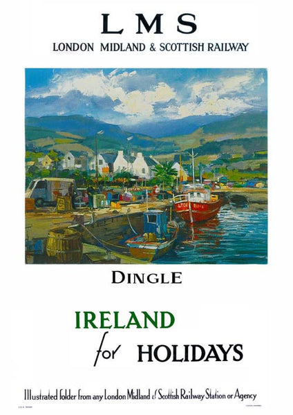 Dingle Co. Kerry Vintage Travel Poster