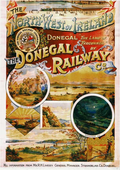 The Donegal Railway Vintage Travel Poster