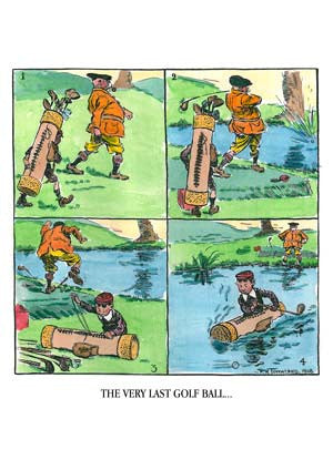 """The Very Last Golf Ball"" from 1905 Vintage Golf Poster"