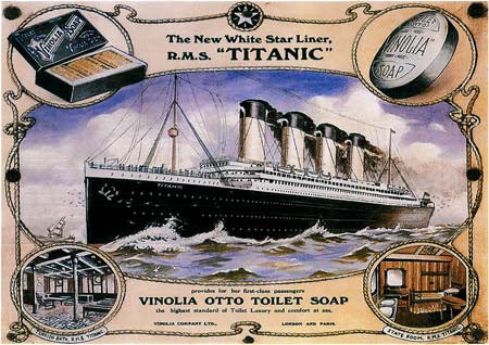 The New White Star Liner R.M.S. Titanic poster