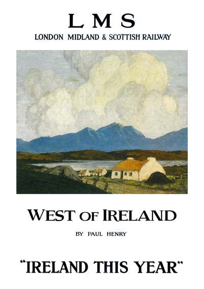 West of Ireland by Paul Henry Vintage Travel Poster
