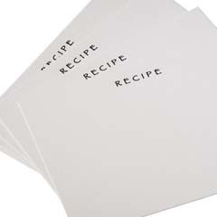 Refill Recipe Cards
