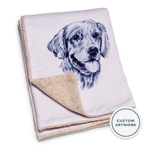 Custom Portrait Dog Blanket