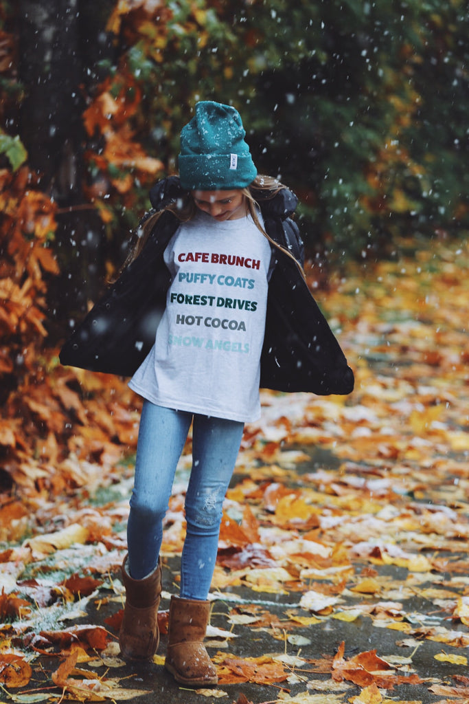 Snow Day Youth Long Sleeve Tee