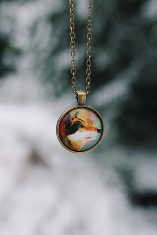 Dreamy Wolf Necklace
