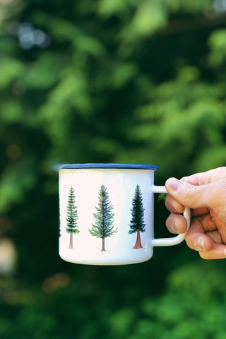 Evergreen Tree Camp Mug