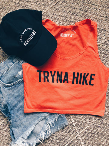 Tryna Hike Crop Top