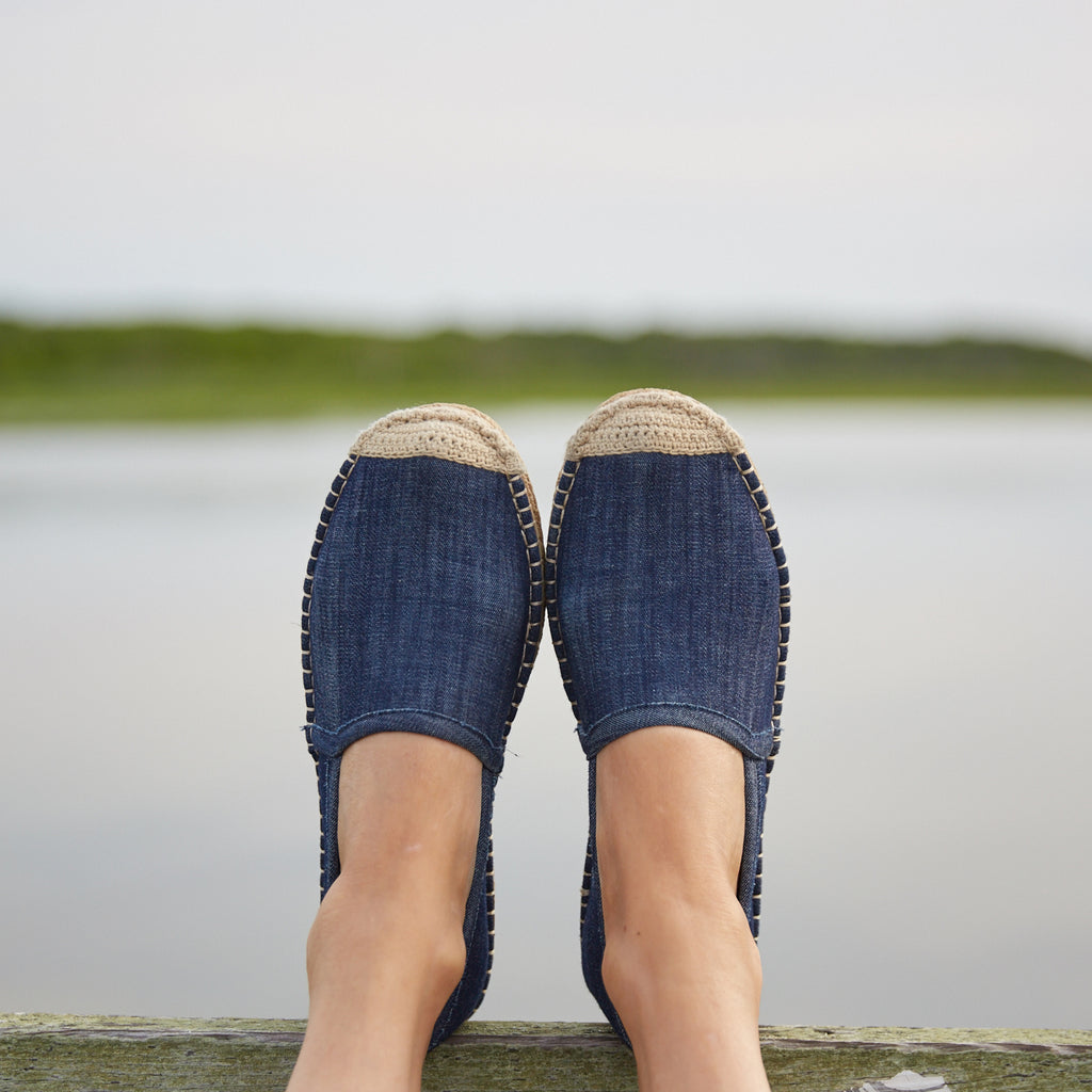 Beachcomber Espadrille: Womens Dark Denim