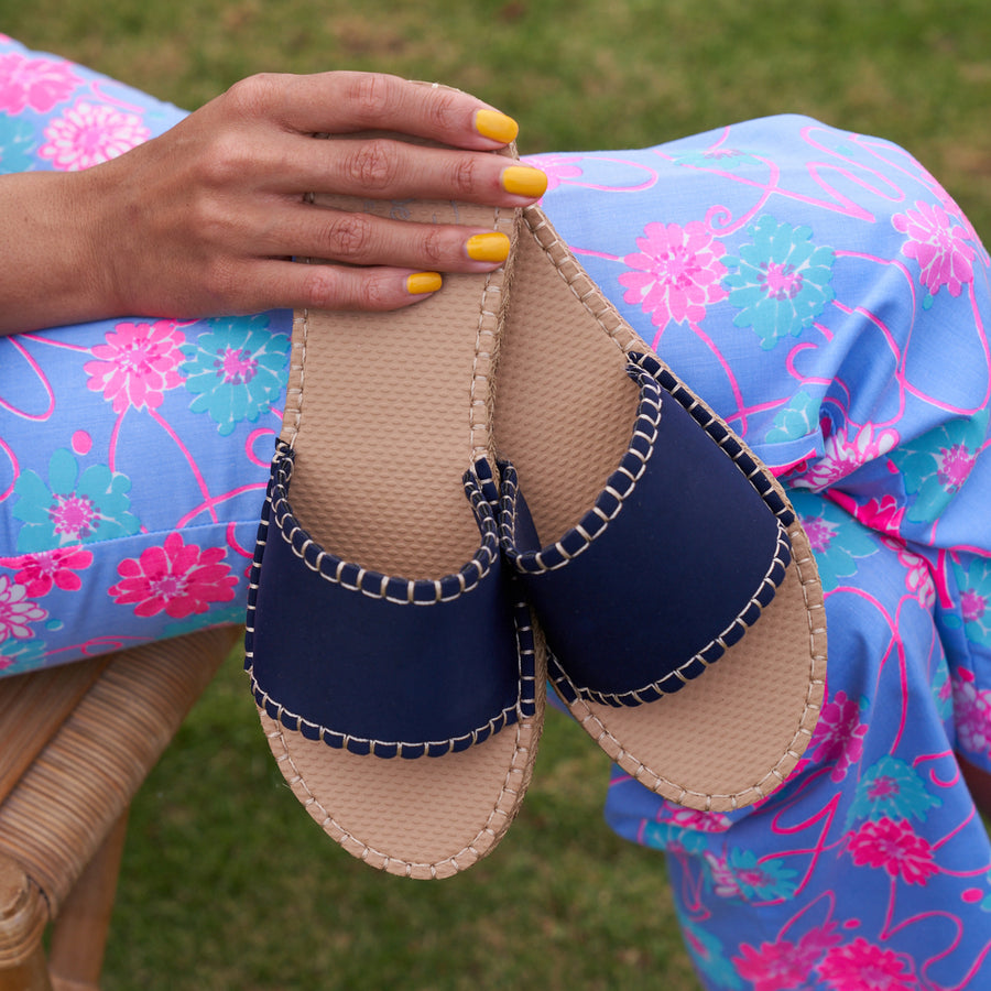 DARK NAVY <p> WOMENS CABANA SLIDE