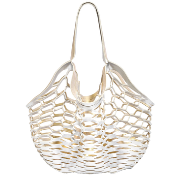 WHITE GOLD / PLATINUM<p> FISHERMANS TOTE
