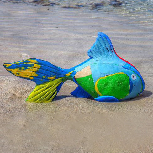 REEF FISH <p> HAND-CARVED SCULPTURE