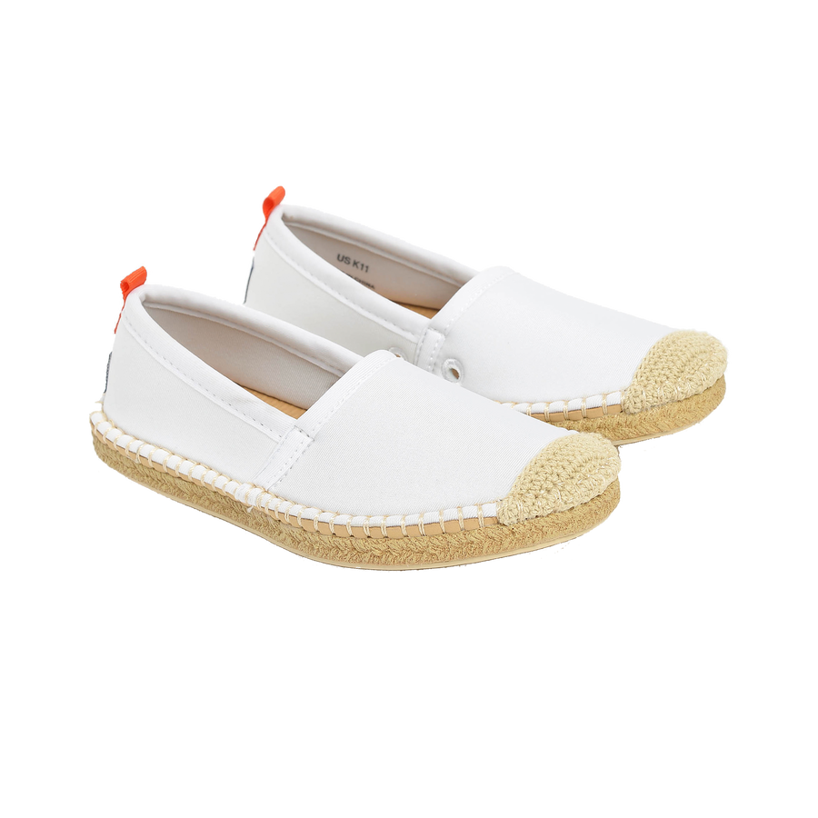 WHITE <p> KIDS BEACHCOMBER ESPADRILLE