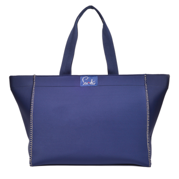 Large Voyager Tote: Dark Navy