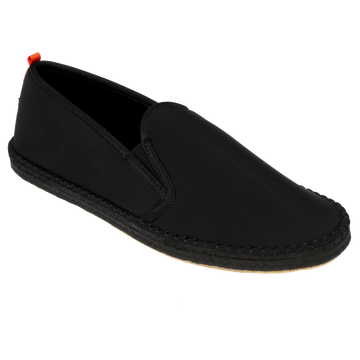 Mariner Slip-On: Mens Black with Black Sole