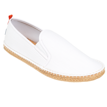 WHITE DENIM<p>MENS MARINER SLIP-ON