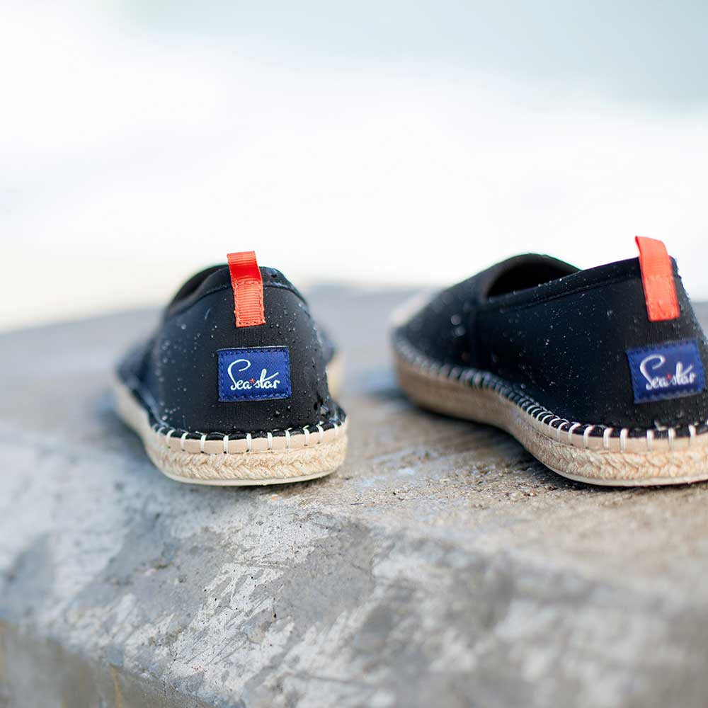 Beachcomber Espadrille: Mens Black