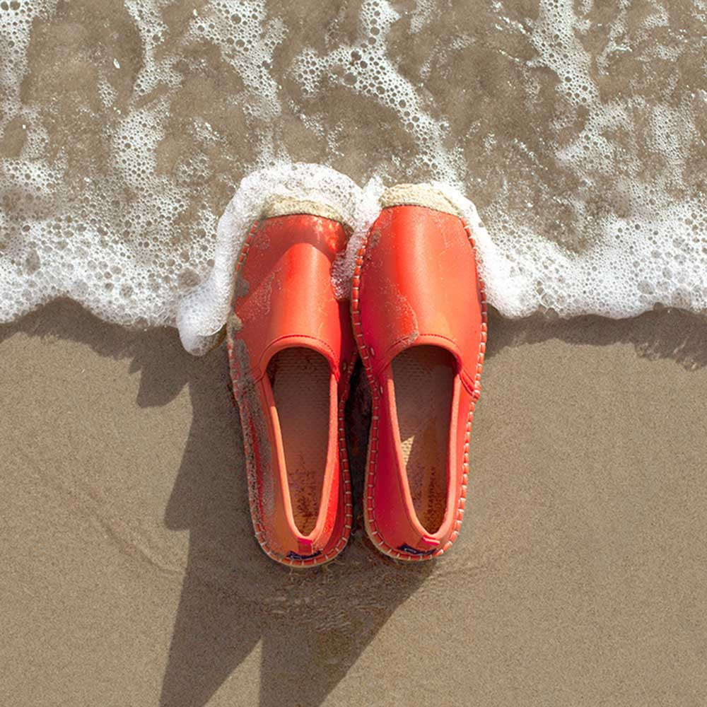 Beachcomber Espadrille: Mens Sea Star Orange