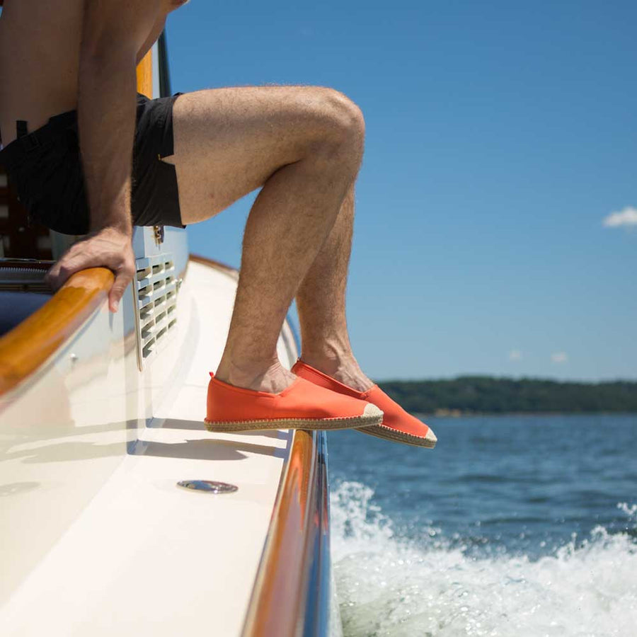SEA STAR ORANGE <p> MENS BEACHCOMBER ESPADRILLE