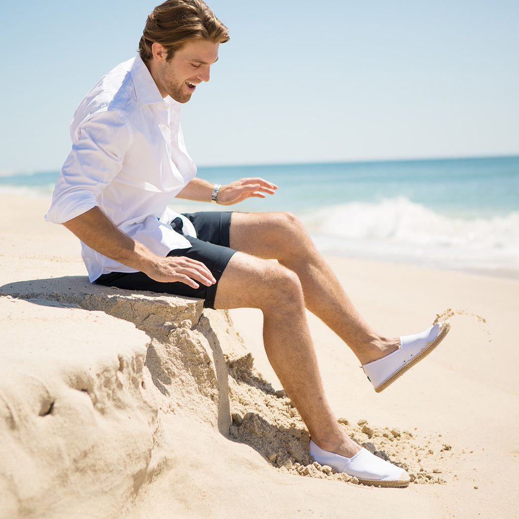 Beachcomber Espadrille: Mens White