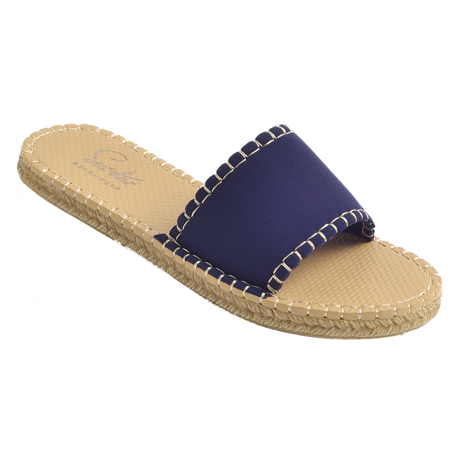 DARK NAVY<p>WOMENS CABANA SLIDE