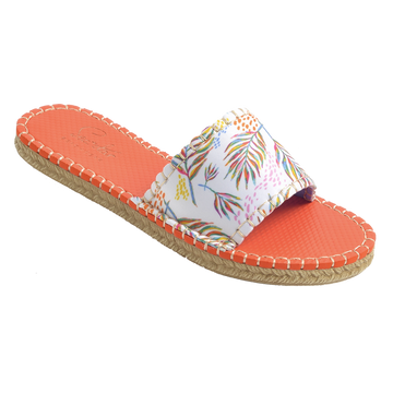 TRÈFLE PALM PRINT <p>WOMENS CABANA SLIDE