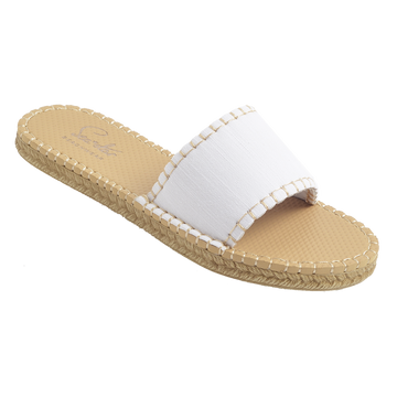WHITE DENIM<p>WOMENS CABANA SLIDE