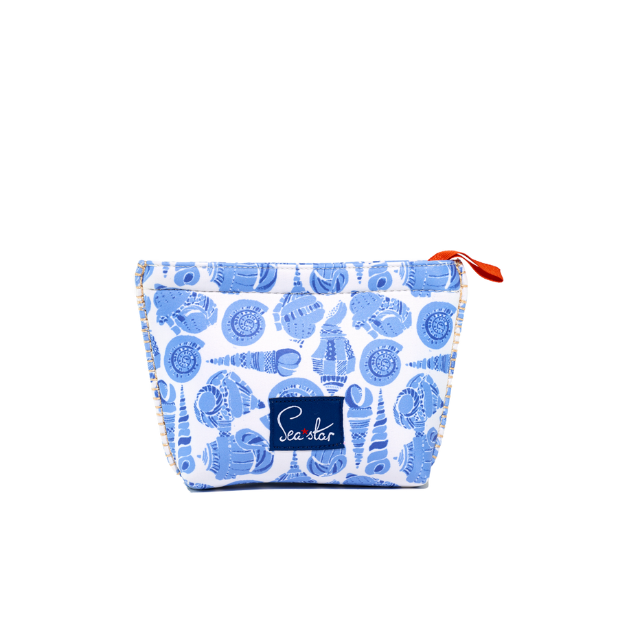 LULUDK CARIBBEAN BLUE SHELL <p> SMALL VOYAGER POUCH