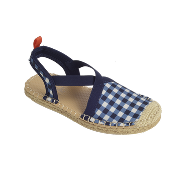 BELLA BLISS NAVY GINGHAM <p> KIDS SEAFARER SLINGBACK