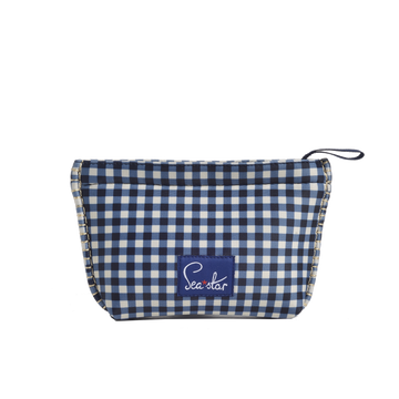 BELLA BLISS NAVY GINGHAM <p> SMALL SKIPPER POUCH