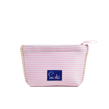 BELLA BLISS SHELL PINK MICROSTRIPE <p> SMALL SKIPPER POUCH