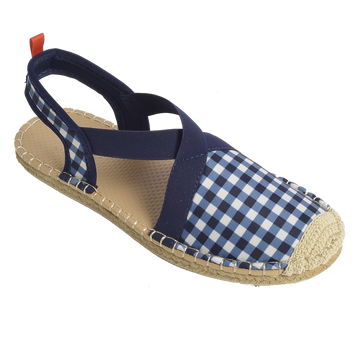BELLA BLISS NAVY GINGHAM <p> WOMENS SEAFARER SLINGBACK