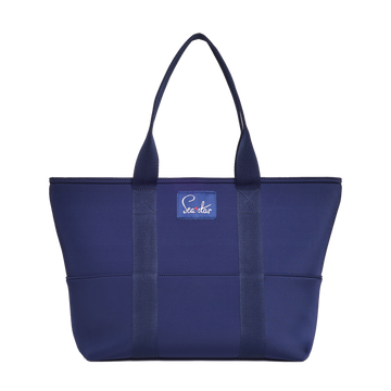 Small Voyager Tote: Dark Navy