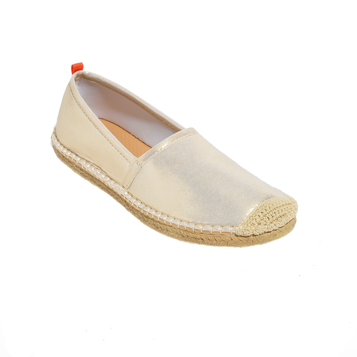 Beachcomber Espadrille: Womens White Gold