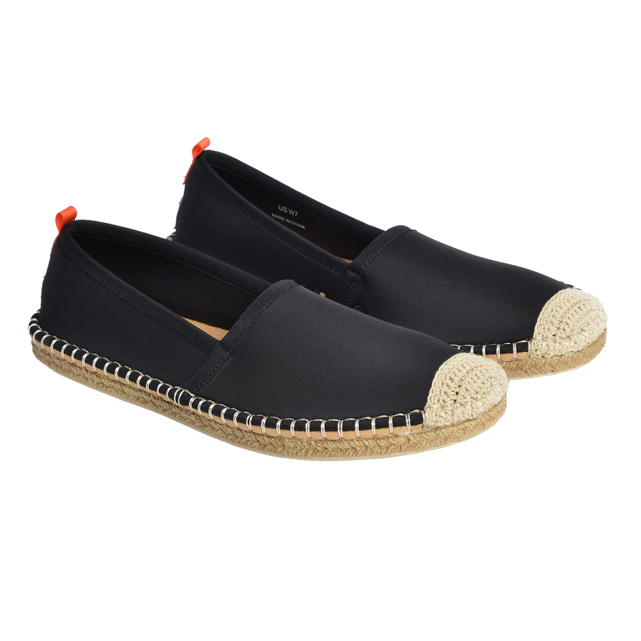 BLACK <p> WOMENS BEACHCOMBER ESPADRILLE