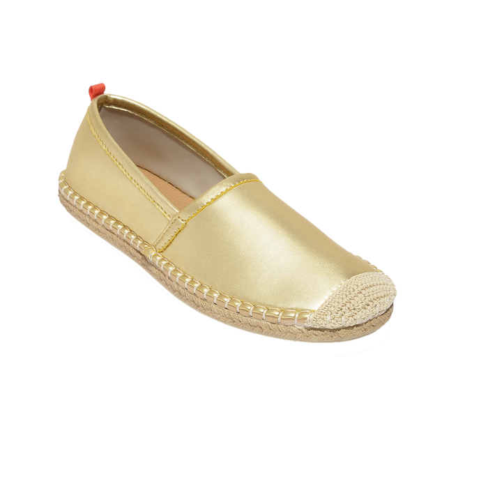 Beachcomber Espadrille: Womens Gold