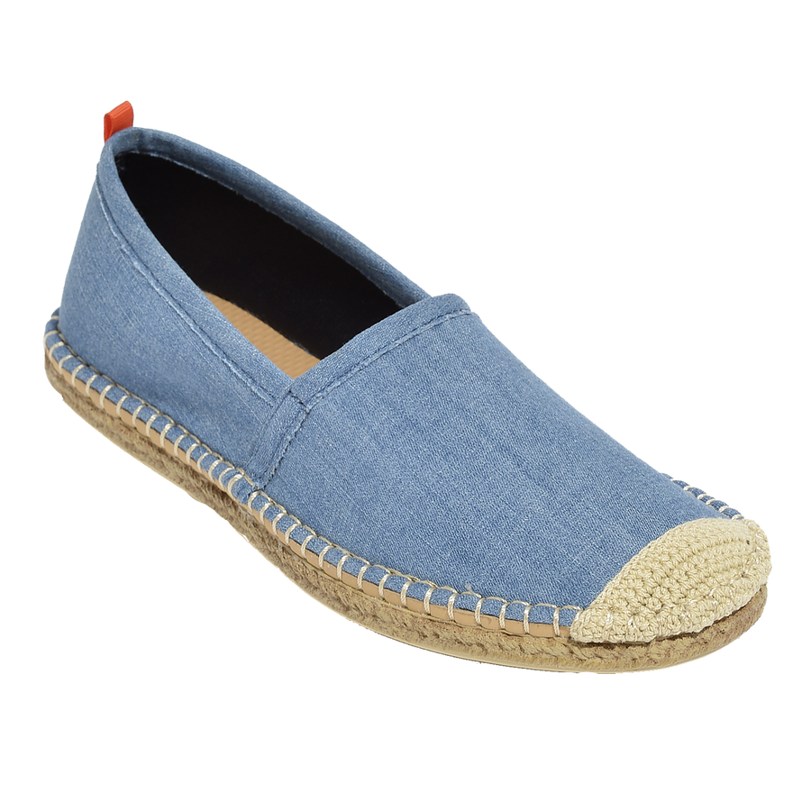 Beachcomber Espadrille: Womens Light Denim