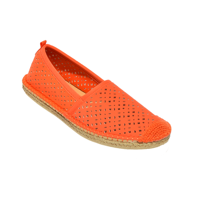 Beachcomber Espadrille: Womens Sea Star Orange Eyelet