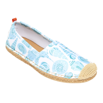Beachcomber Espadrille: Womens LuluDK Sea Glass Shell Print