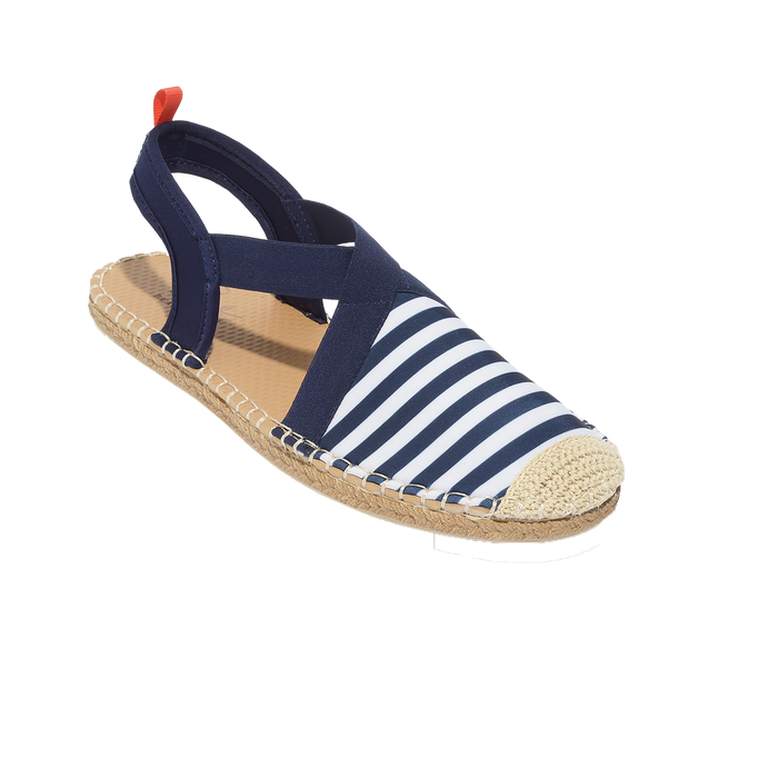 Seafarer Slingback: Womens Navy/White Stripe