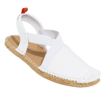 Seafarer Slingback: Womens White Denim