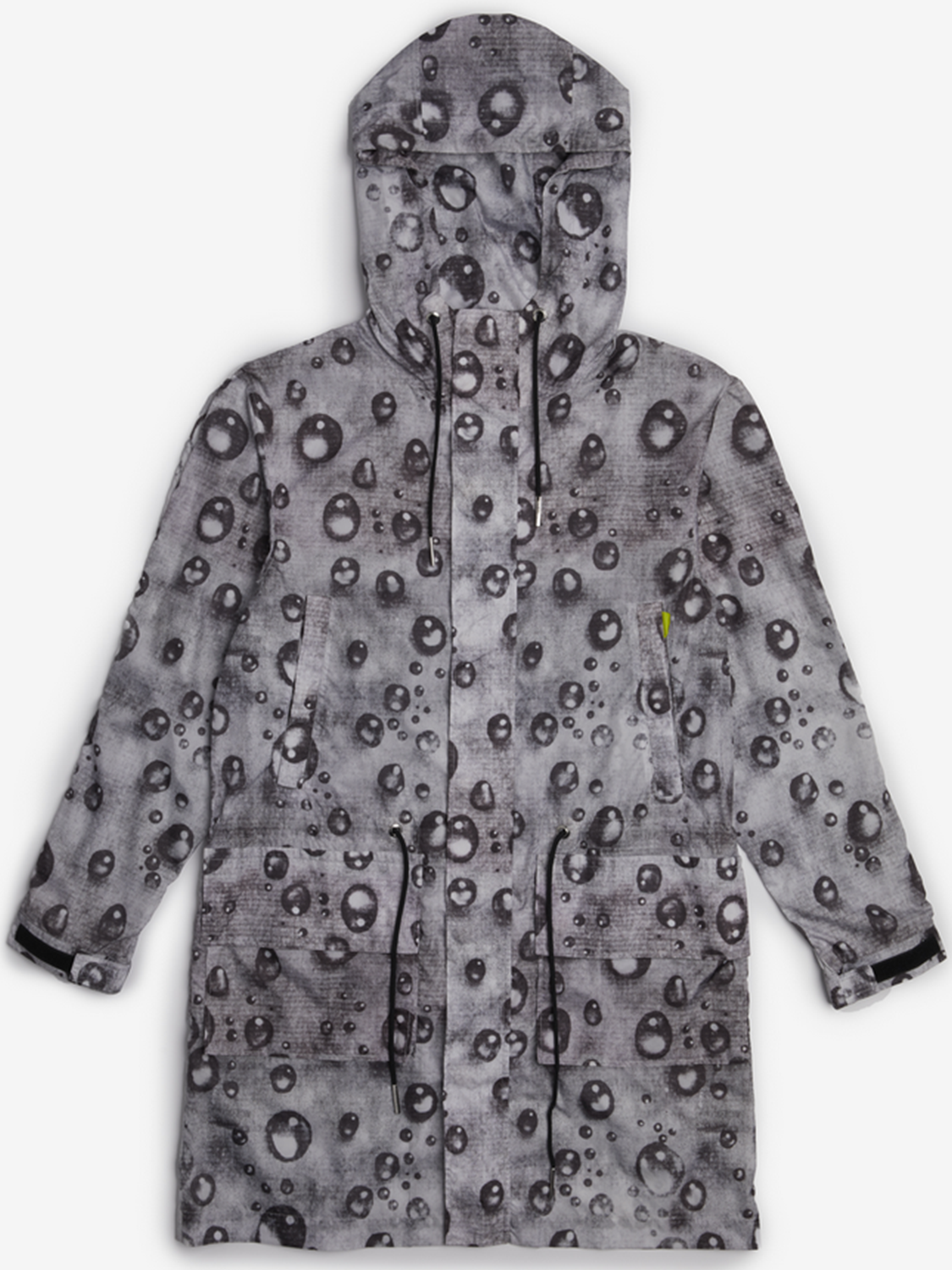 hooded printed raincoat jacket outerwear